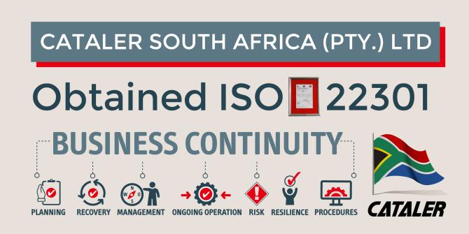 キャタラー南アフリカが「ISO22301」の認証を取得しました