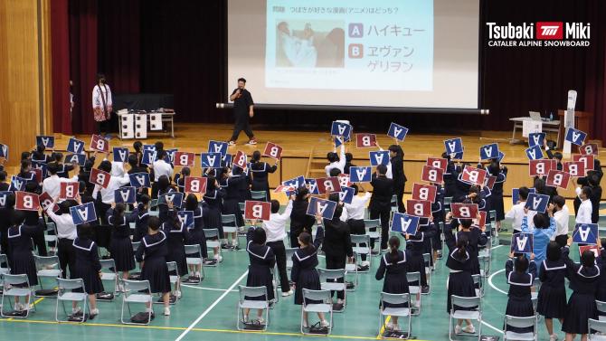 大須賀中学校にて講演しました